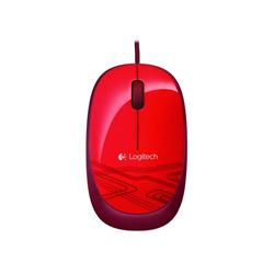 LOGITECH Corded Mouse M105 - EMEA - RED