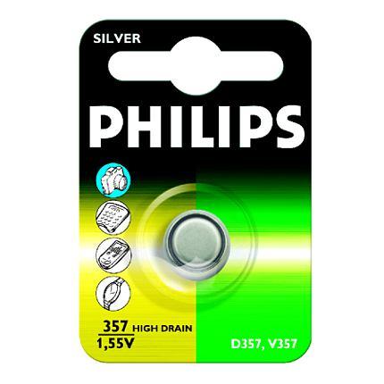 Philips baterie knoflíková 357, stříbrná - 1ks