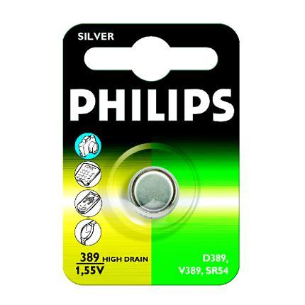 Philips baterie knoflíková 389, stříbrná - 1ks