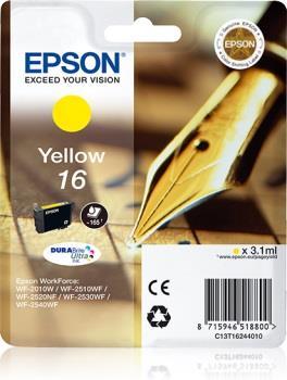 Inkoust Epson T1624 yellow DURABrite | 3,1 ml | WF-2010/25x0