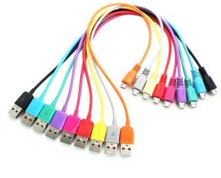 4World Kabel USB 2.0 MICRO 5pin, AM / B MICRO přenos dat/nabíjení 1.0m žlutý