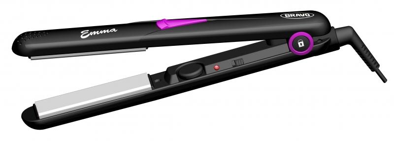 Žehlička na vlasy Bravo B 4327 Emma černo-fialová