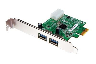 Transcend USB 3.0 Expansion Card, PCI Express, 2x USB 3.0 port