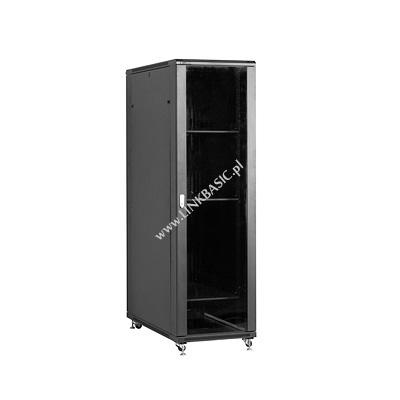 Linkbasic stojící skříně 19'' 42U 600x1200mm - černá (prosklené dveře)