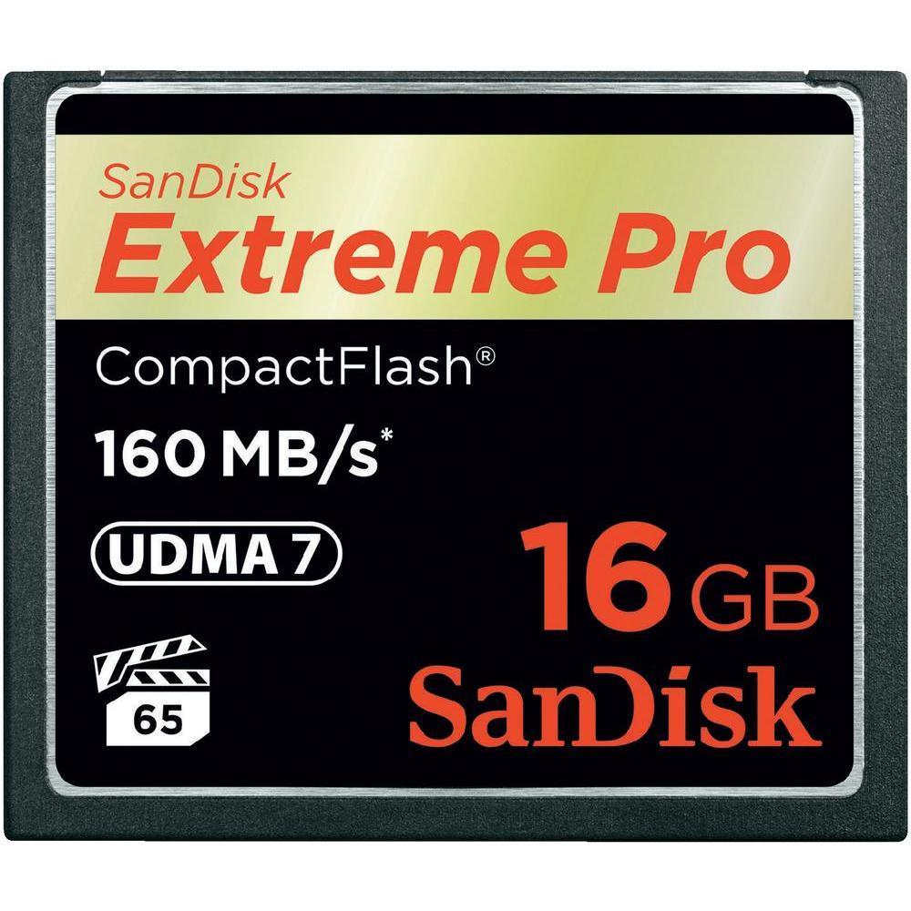 SanDisk Compact Flash Extreme karta 16GB (rychlost až 160MB/s)