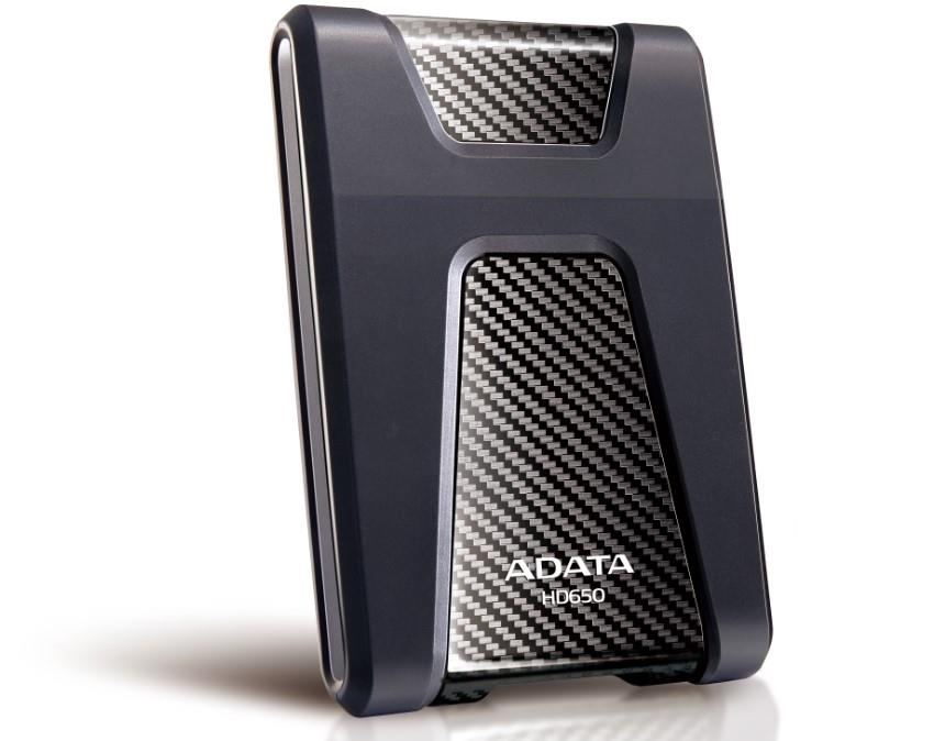 ADATA HD650 DashDrive™ Durable 2TB ext. HDD, USB3.0, shock proof, černý