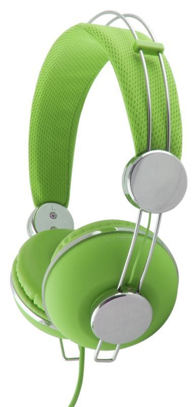 Esperanza EH149G MACAU Stereo sluchátka, ovl. hlasitosti, 3m, zelená