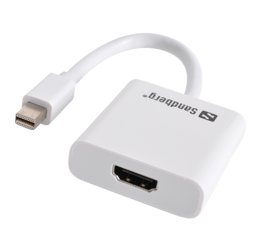 Sandberg adaptér Thunderbolt/Mini DisplayPort > HDMI, bílý