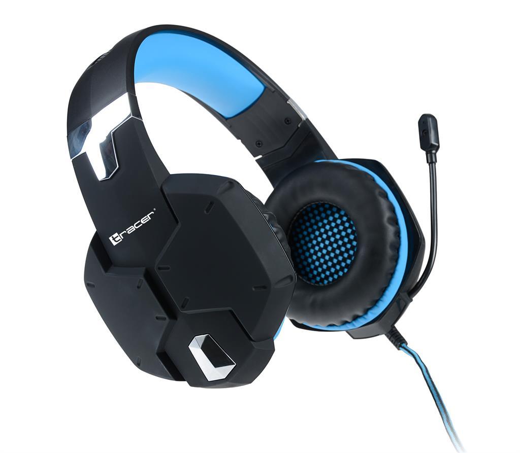 Tracer DRAGON herní sluchátka modrá