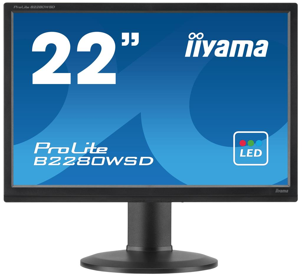Iiyama LCD B2280WSD-B1 22'' LED, 5ms, VGA/DVI, repro, 1680x1050, HAS, pivot, č