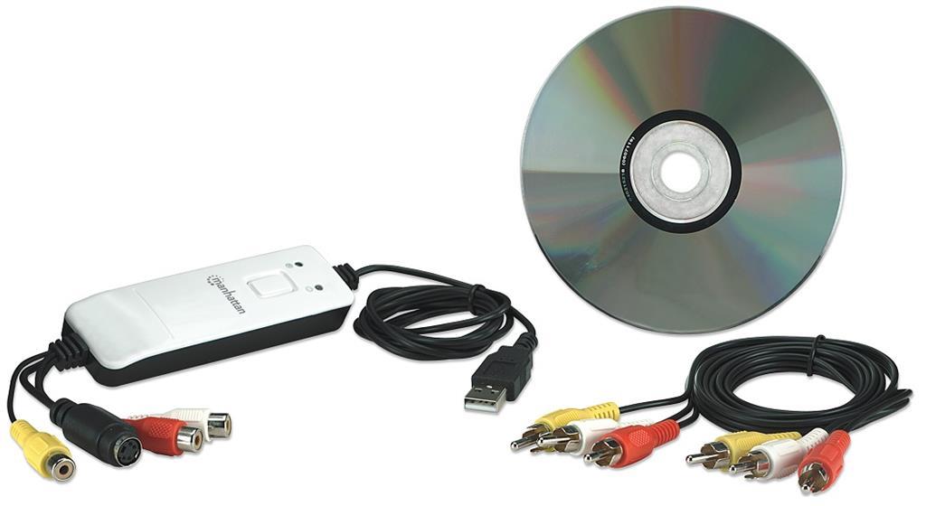 Manhattan Audio-Video Grabber Hi-Speed USB 2.0, NTSC / PAL / SECAM