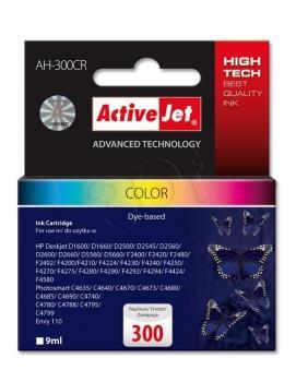 Inkoustová kazeta ActiveJet AH-300CR | Barevná | 9 ml | HP HP 300 CC643EE