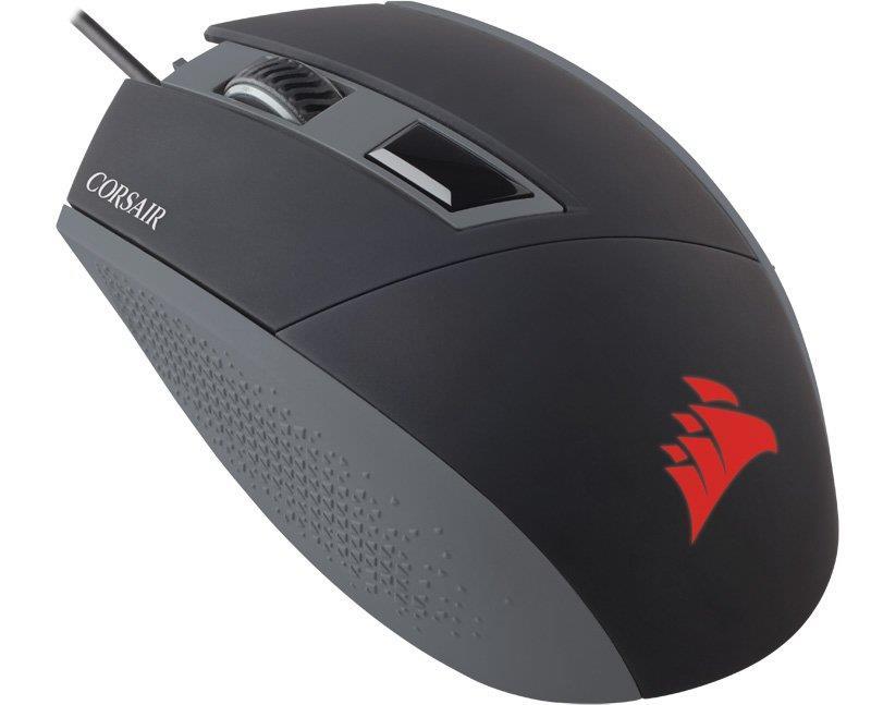 Corsair optická herní myš KATAR Ambidextrous, 8000 dpi, 4 tlačítka, černá