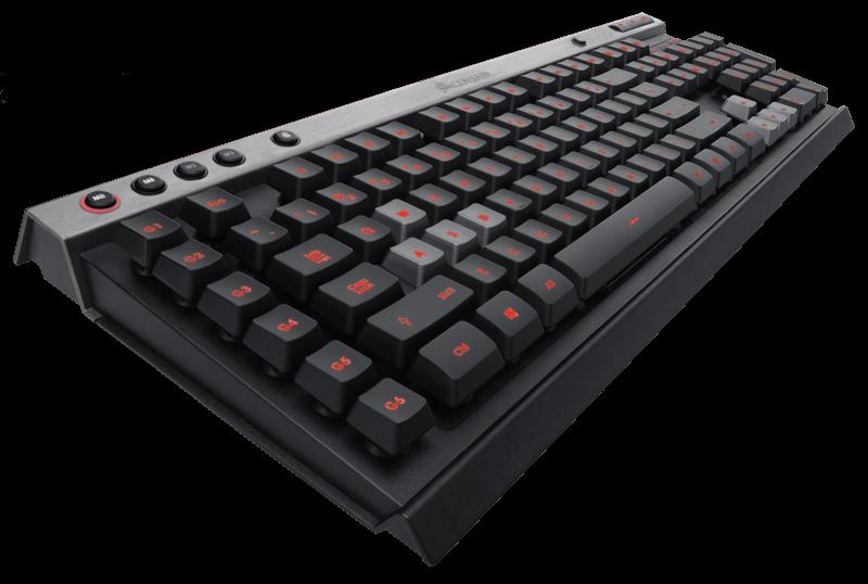 Corsair herní klávesnice K30, USB, červené podsvícení, US