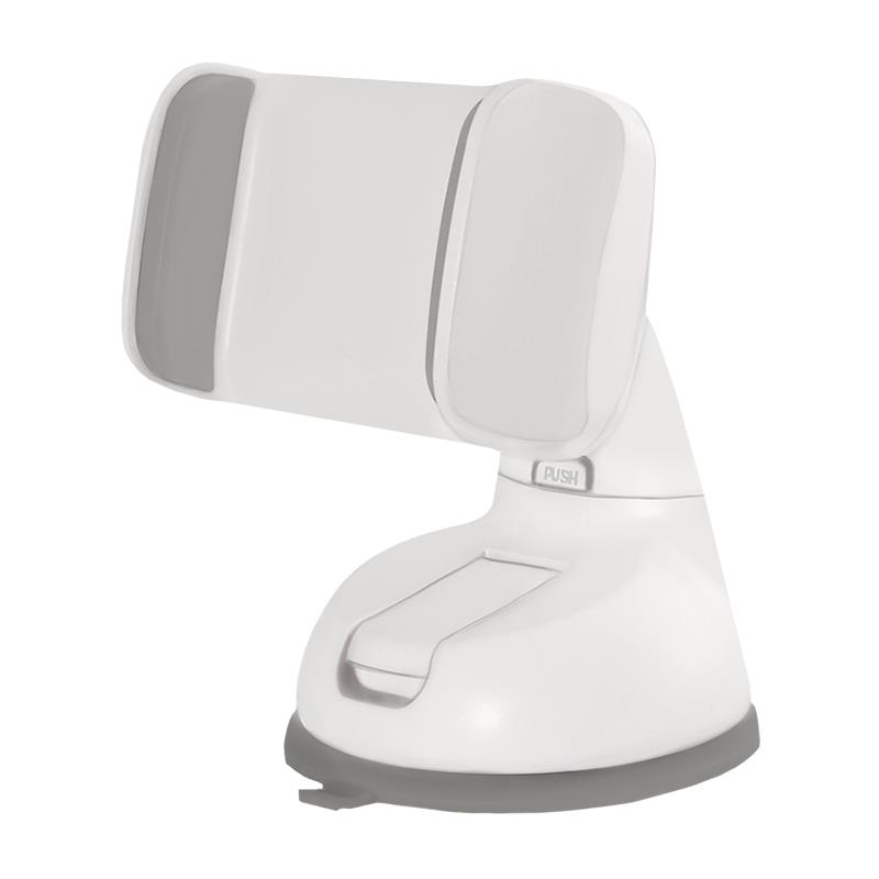 Qoltec Nastavitelný držák na sklo auta pro smartphone 2.0-6.0'' bílá