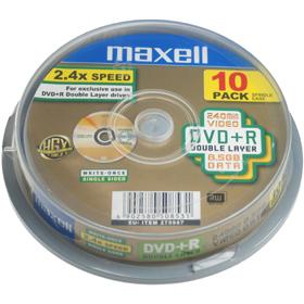 DVD+R DL 8,5GB 8x 10SP 275987 MAXELL