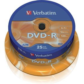 DVD-R 4,7GB 16x 25SP VERBATIM