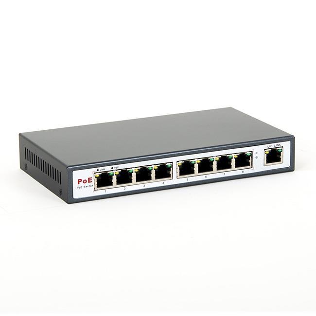 8level FEPS-1908 Switch PoE 9-ports 10/100 (8 ports PoE,15.5 W/Port ,max 130W)