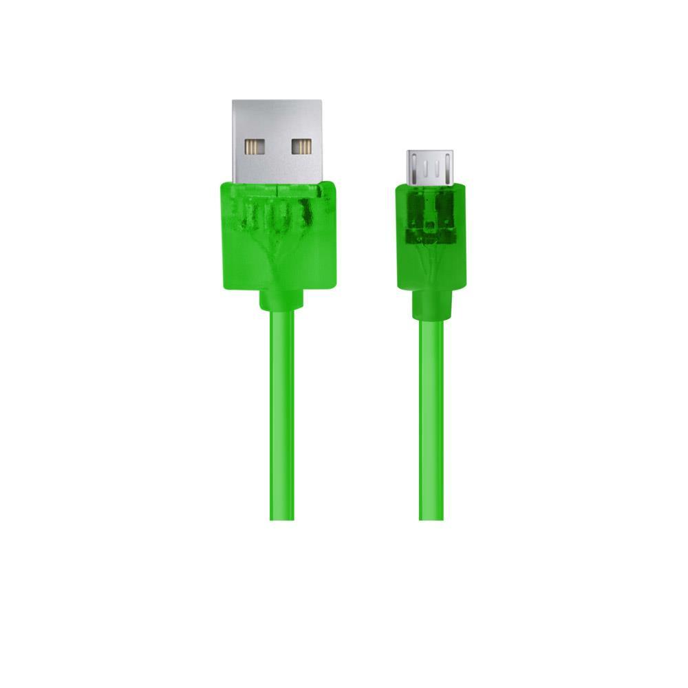 Esperanza EB184G Kabel Micro USB 2.0 A-B M/M 1.0m, zelený