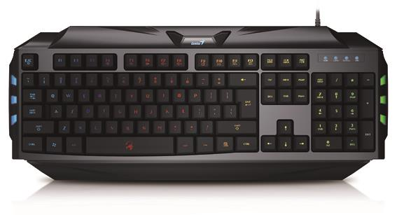Genius keyboard Scorpion K5 Black, 7 colors backlight, US layout