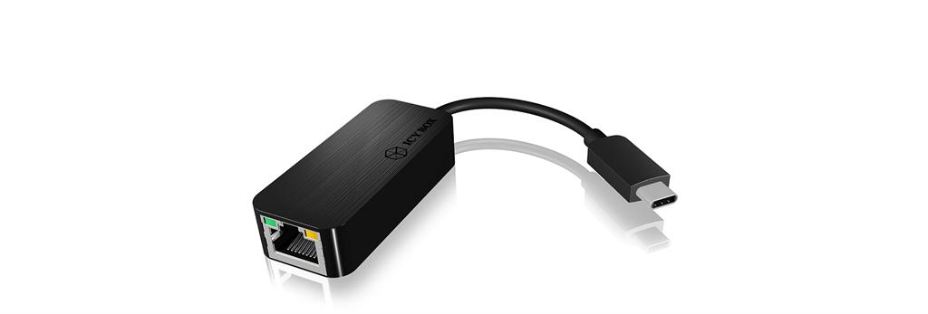 IcyBox USB Type-C to Gigabit Ethernet Adapter