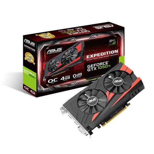 ASUS EX-GTX1050TI-O4G - 4GB GDDR5 (128 bit), HDMI, DVI, DP