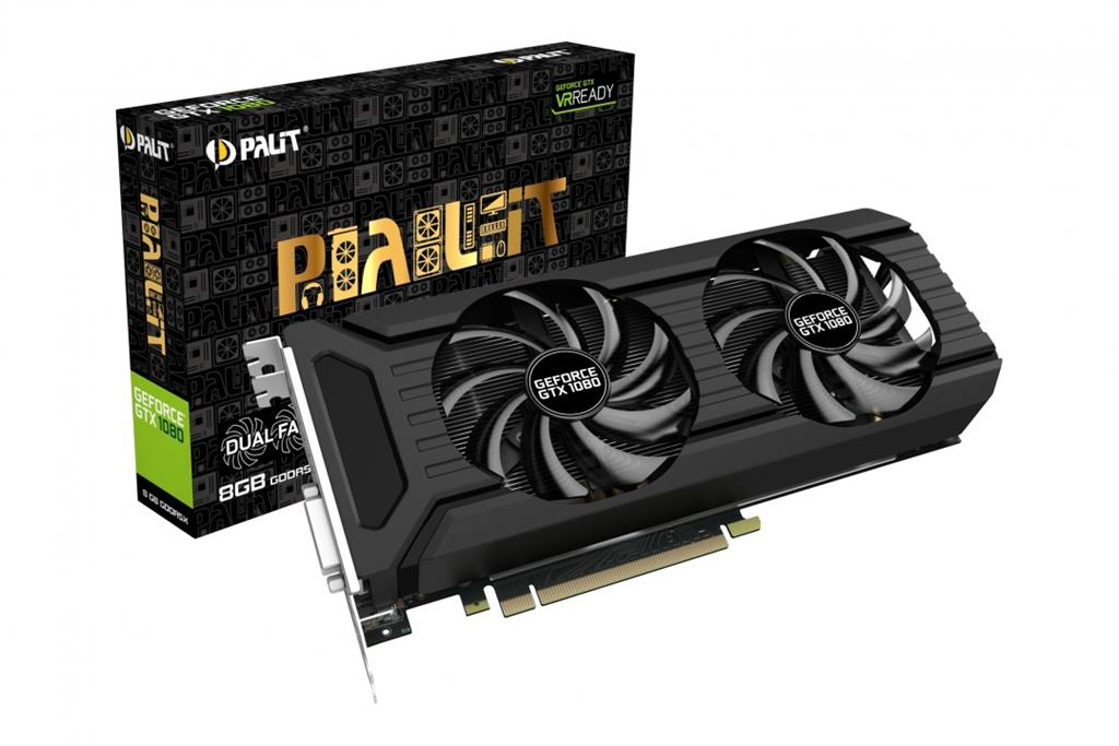 PALIT GeForce GTX 1080 DUAL 8GB GDDR5X 256 bit DVI 3*DP HDMI