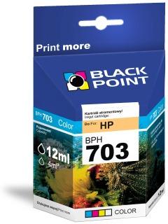 Ink Black Point BPH703 | Color | 12ml | HP CD888AE