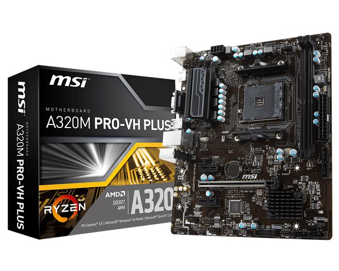 MSI A320M PRO-VH PLUS, AM4, DDR4, VR Ready, USB 3.1