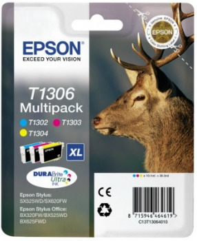 Bundle Epson T1306 MultiPack | Stylus SX525WD/BX305F/BX320FW/BX625FWD