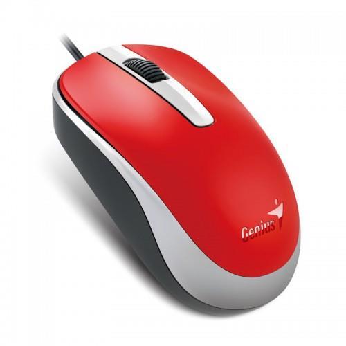 Genius optická drátová myš DX-120, červená