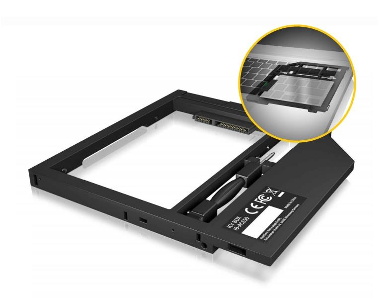 IcyBox Adapter for 2.5'' HDD/SSD in Notebook DVD bay