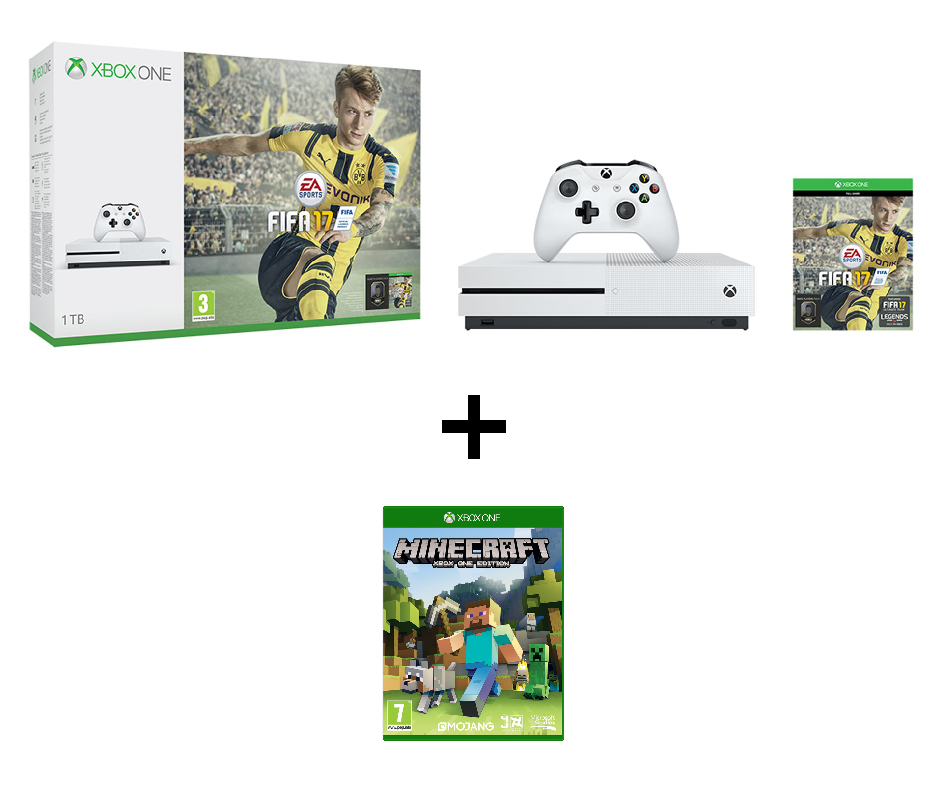 XBOX ONE S 1 TB + 2 hry (FIFA 17, Forza Motorsport 6) - AKCE!