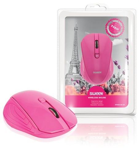 SWEEX Paris Wireless Mouse, pink