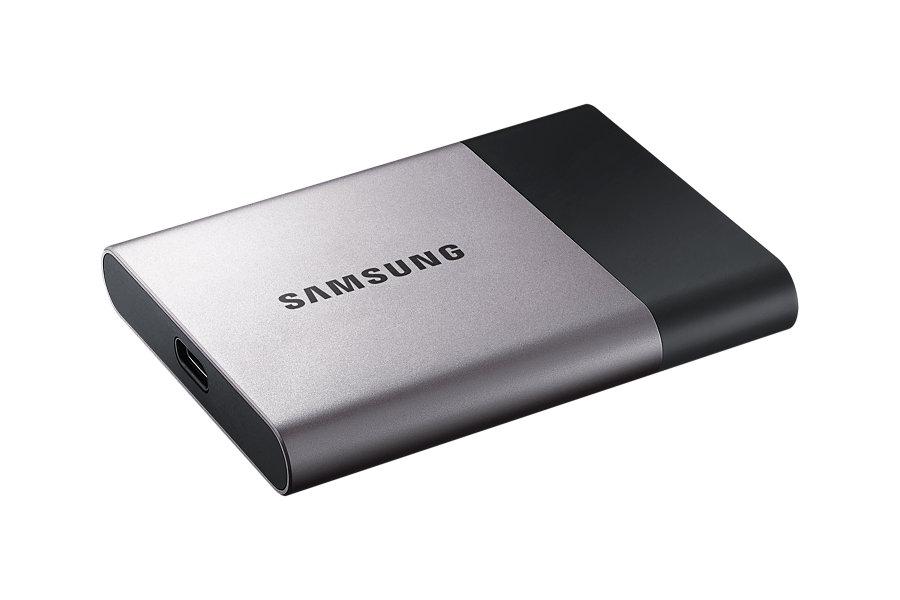 Samsung externí SSD T3 250GB, čtení/zápis až 450Mb/s, USB 3.1/3.0/2.0
