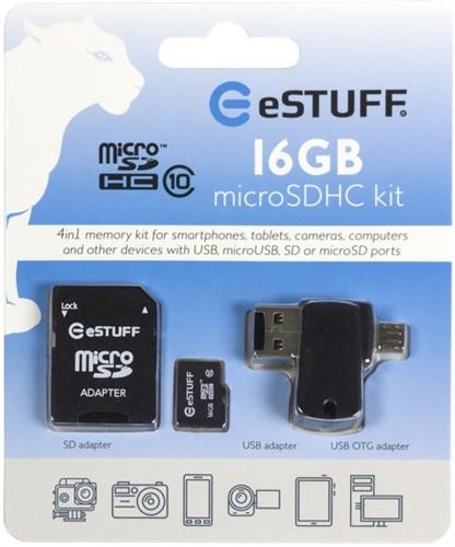 eSTUFF 4in1 Micro SD 16GB,class 10