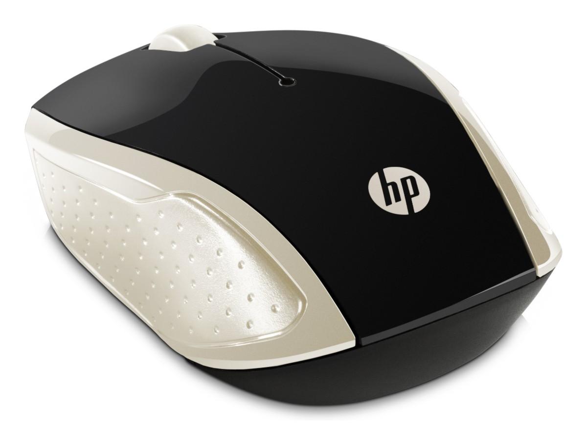 HP myš 200 bezdrátová zlatá