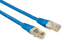 Patch kabel CAT5E UTP PVC 3m modrý