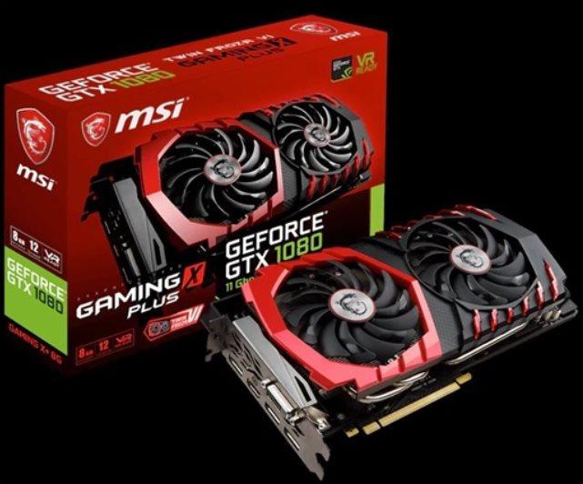 MSI VGA nVidia GeForce GTX 1080 GAMING X+ 8G