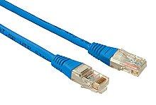 Patch kabel CAT5E UTP PVC 0,5m modrý