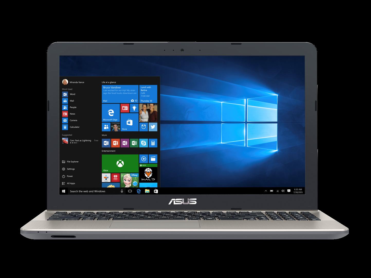 """ASUS X541UA-GQ1245T i3-6006U/4GB/1TB/DVDRW/HD graphics/15.6"""" HD LED matný/W10 Home/Black/black&gold"""