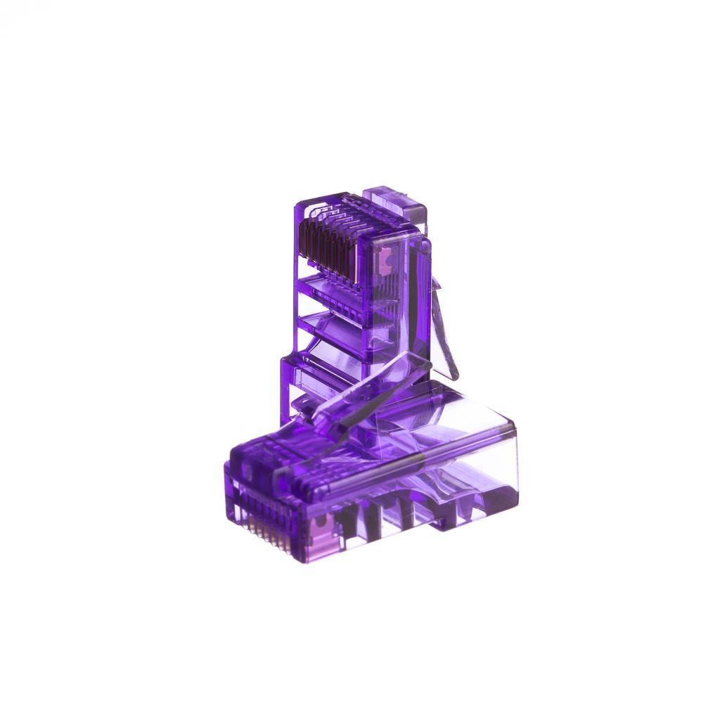 Netrack konektor RJ45 8p8c, UTP lanko, cat. 5e (100 ks), fialový