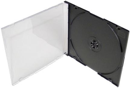 COVER IT Krabička na 1x CD - černá - slim