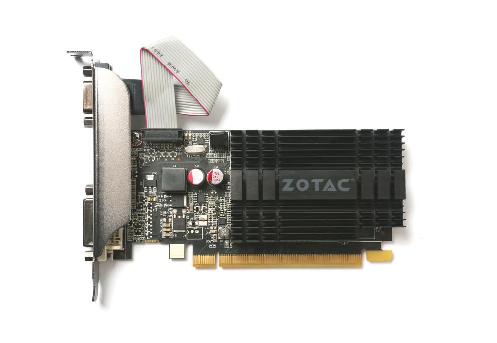 ZOTAC GeForce GT 710, 2GB DDR3 (64 Bit), HDMI, DVI, VGA