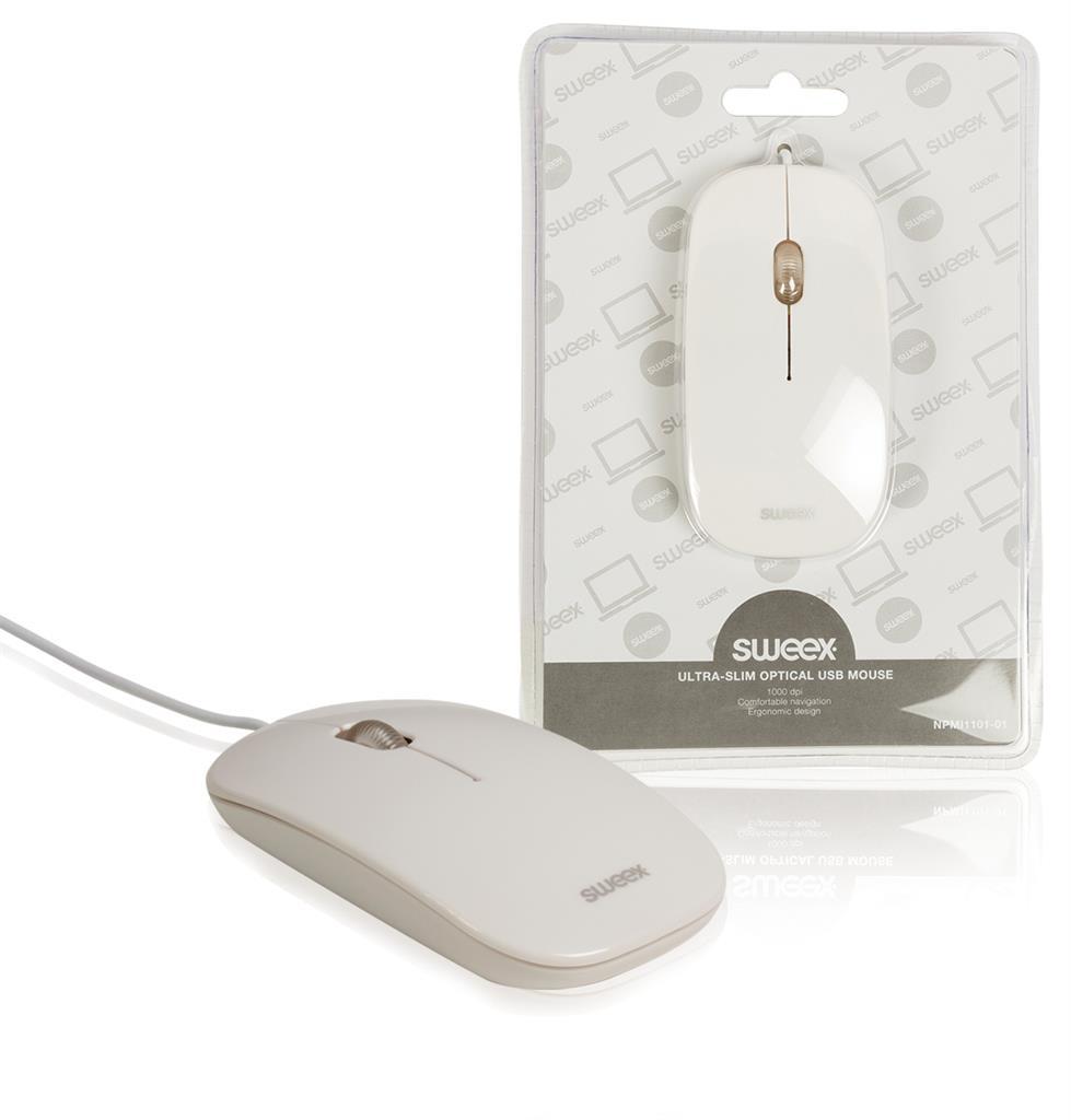 Sweex optická myš, USB, 1 000 dpi, bílá