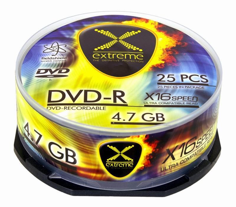 Extreme DVD-R [ cakebox 25 | 4.7GB | 16x ]