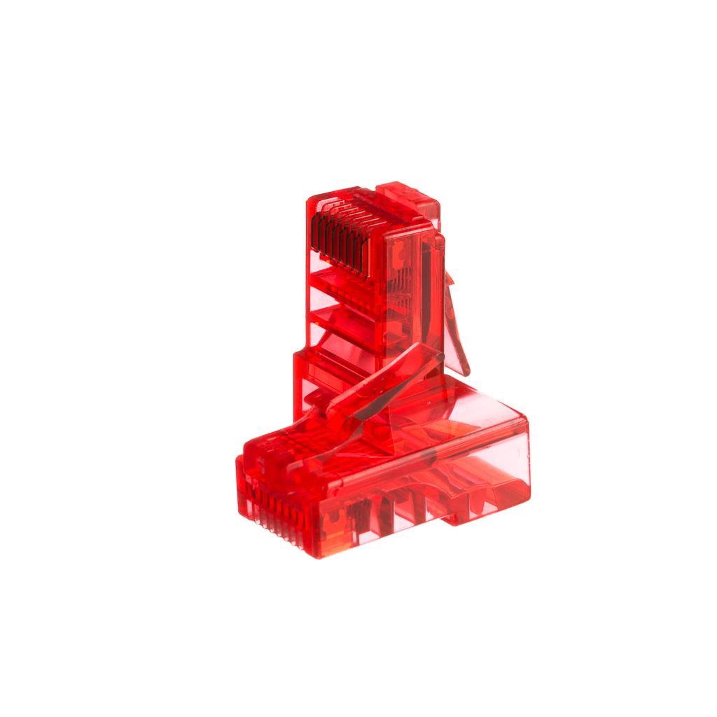 Netrack konektor RJ45 8p8c, UTP lanko, cat. 5e (100 ks), červený