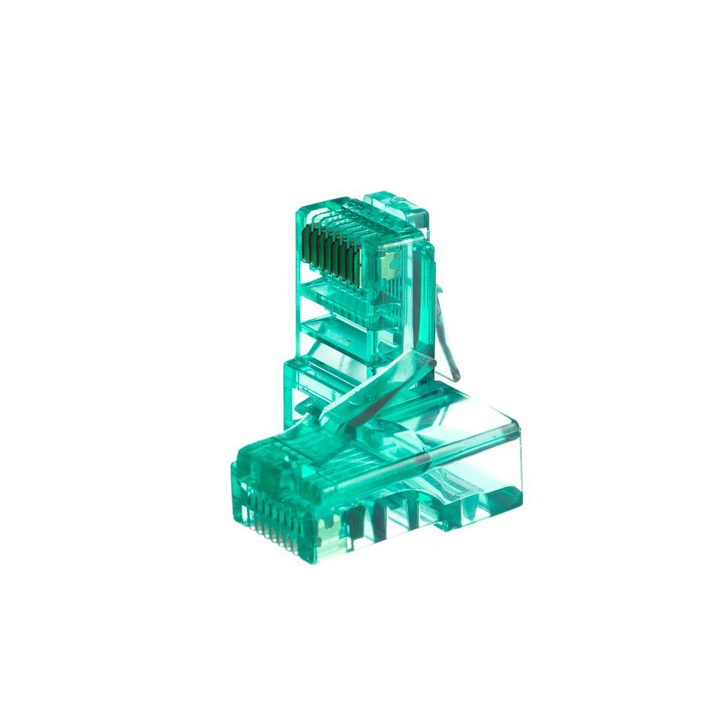 Netrack konektor RJ45 8p8c, UTP lanko, cat. 5e (100 ks), zelený