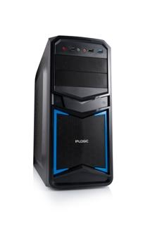 LOGIC PC skříň B24 Midi Tower, zdroj LOGIC 400W ATX PFC, USB 3.0