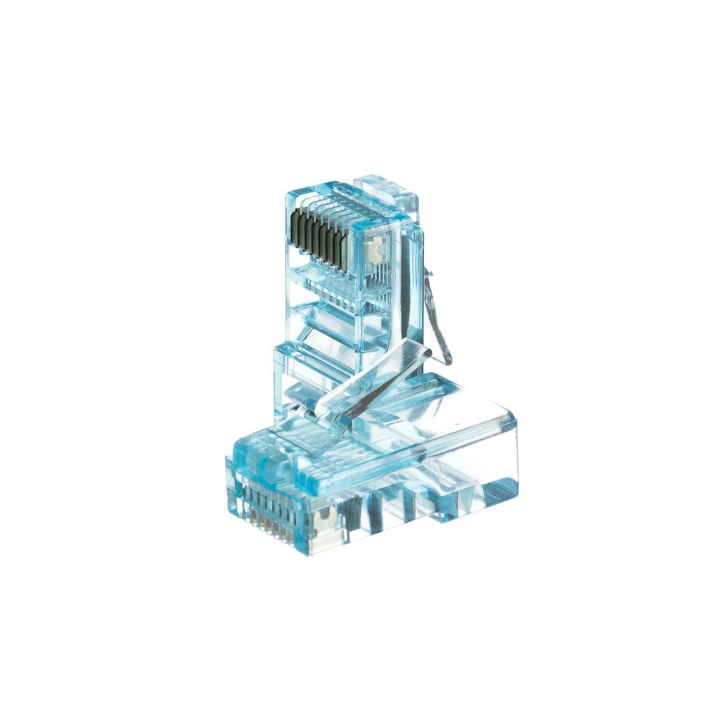 Netrack GoldMax 50u konektor RJ45 8p8c, UTP lanko, cat. 5e (100 ks), modrý